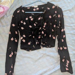 Brandy Melville wrap shirt